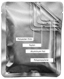 retort pouch image.  laminated film.